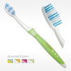 Ergo Soft Adult Medium Compact Toothbrush with Comfort Grip Handle