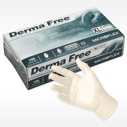 box of MICROFLEX DERMA FREE Exam Glove from Ansell