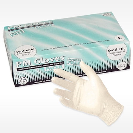 box of PACER Vinyl Exam Glove