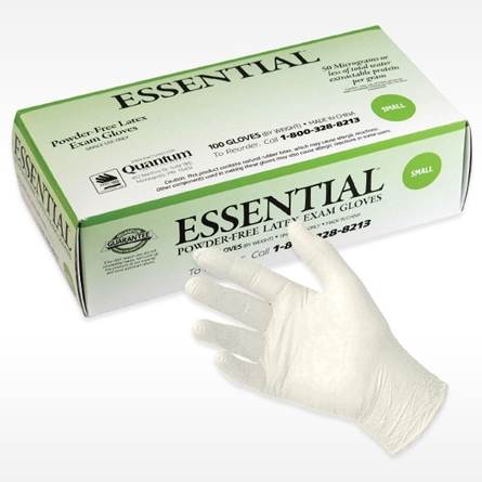 box of ESSENTIAL SMOOTH FINISH Latex Exam Glove
