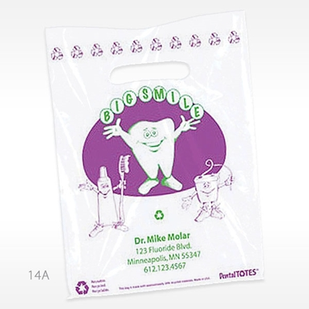 Picture of Big Smile Supply Bag - Large, Purple