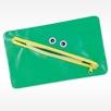Green toothmonster dental supply bag for kids