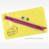 yellow toothmonster dental supply bag for kids with personalized imprint
