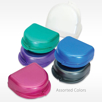 Pearlized Retainer Cases Can be Personalized with logo