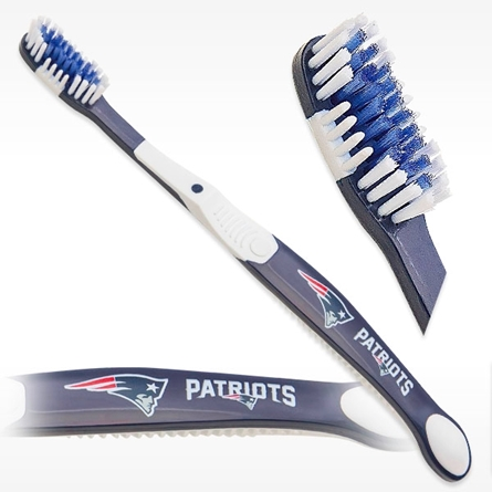 Officially licensed New England Patriots NFL team toothbrushes