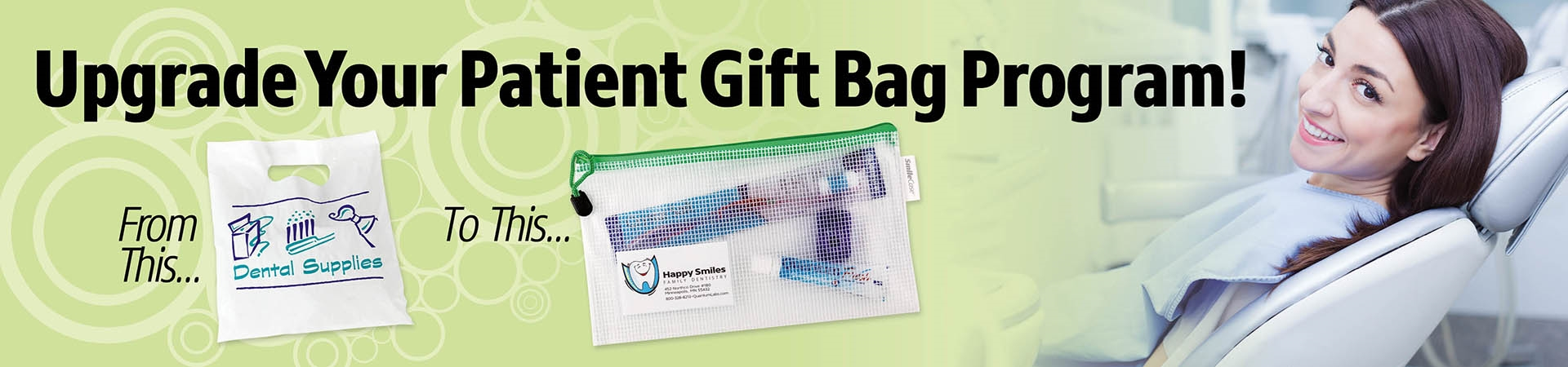 Durable Vinyl Mesh Patient Take home zipper bag