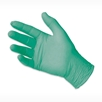 green DENTA-GLOVE Latex HydraCare dental exam glove