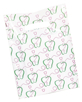 Apples and Tooth Scatter  Print Value Dental Supply Googie Bag with Toothbrush Floss and Toothpaste