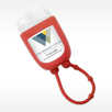 Red Travel Pocket Hand Sanitizer in Iced Pear Scent