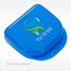 Blue Personalized Retainer Cases Imprint Full Color Logo