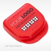 Red Personalized Retainer Cases Imprint Full Color Logo