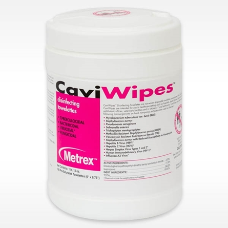 """Canister of CaviWipes Disinfecting Towelettes 6"""" x 6.75"""" - 160 wipes per canister 13-1100"""