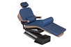 "Navy MediPosture 4 Piece Memory Foam Dental Chair Overlay System with 3/5"" Classic Memory Headrest MDC704-MDC104"