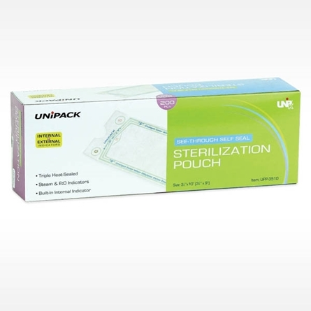 Self Seal sterilization pouches from Unipack