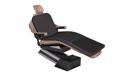 Black MediPosture Memory Foam Dental Chair Overlay Pad Only