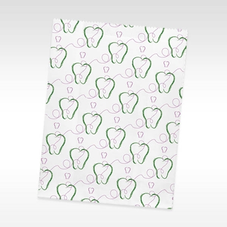 Paper Dental Supply Bag Scatter Tooth