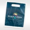 Custom plastic goodie bag Custom Supply Bag with diecut handle for dental practices