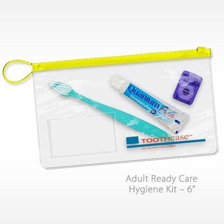 Ready Care Hygiene Kit Dental Kit with Toothbrush Travel Toothpaste Floss and Zipper close bag