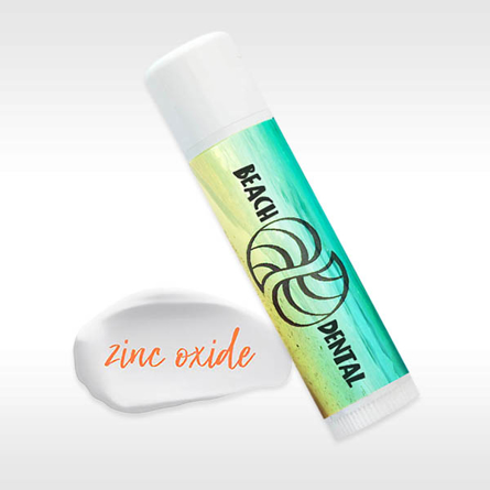 Zinc Oxide Mineral Zinc Reef Safe Lip Balm with Personalized Imprintable Labels