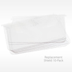 Replacement Face Shield Lenses 10 Pack for In Motion Brand
