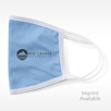 blue imprinted fabric face mask