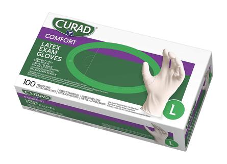 Curad Comfort Latex Exam Glove White