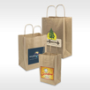 Sustainable Recycled Kraft Natural Custom Handled Shopper Paper Bag