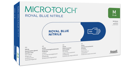 Microtouch Royal Blue Nitrile Exam Glove Box