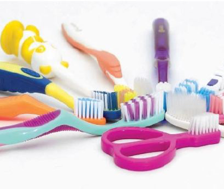 Assortment of professional toothbrushes