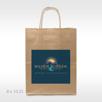 Medium Full Color Custom imprinted kraft paper supply bag with handles digital