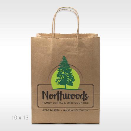 Large Custom twisted handle kraft shopper with digital custom logo imprint sustianable shopping bag