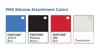 Exact Pantone colors of silicone lanyards