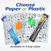 Choose Paper or Plastic Goodie Bags