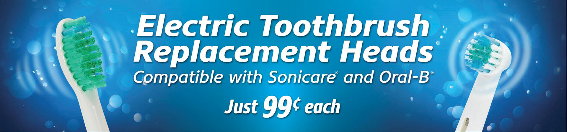 generic electric toothbrush replacement heads